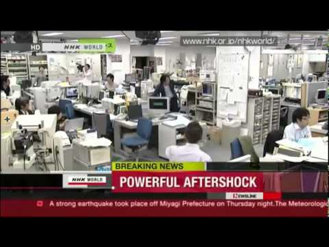 Землетрясение в Японии 7 апреля 7.4 балла