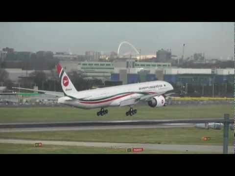 Biman Bangladesh – Boeing 777-3E9/ER – NEW COLOURS – Landing London Heathrow