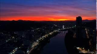 Belíssimo Por do Sol em Blumenau/SC