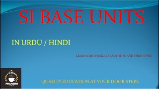 SI BASE UNITS IN URDU /HINDI