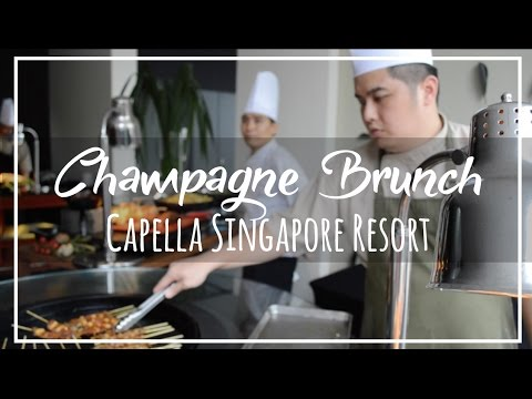 Capella Singapore Champagne Sunday Brunch at The Knolls on Sentosa Island
