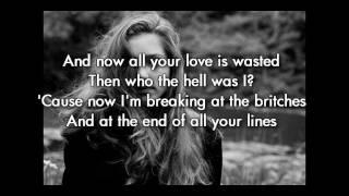 Birdy - Skinny love (instrumental/karaoke with lyrics: original key)