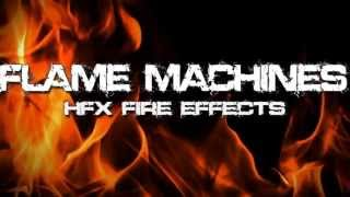 Flame Machines & Fire Effects Demo - Halloween FX Props