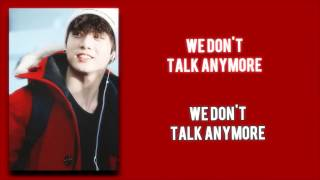 JUNGKOOK (정국) - We Don't Talk Anymore [Karaoke Duet]