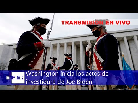🔴📡Washington inicia los actos de investidura de Joe Biden
