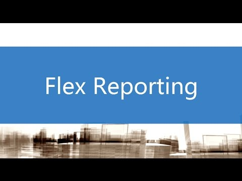 Flex Reporting