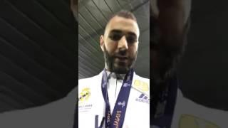 Karim Benzema célèbre sa victoire avec le Real et fait une dédicace à Lacrim et Booba !