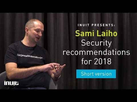 Sami Laiho's securiy recommendations for 2018