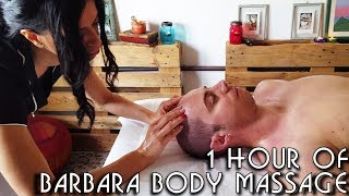 💆 1 Hour of Barbara's Complete Body Massage Techniques - ASMR no talking width=