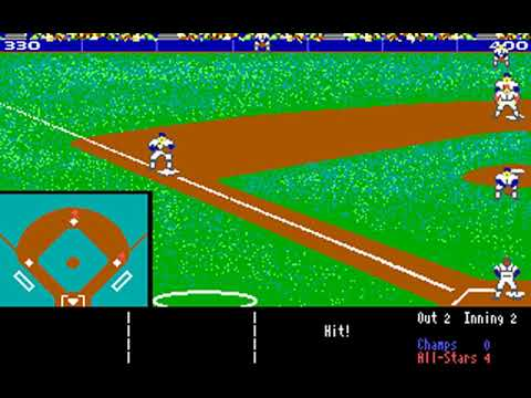 HardBall! (Accolade, Distinctive Software, Sculptured Software) (MS-DOS) [1987] [PC Longplay]