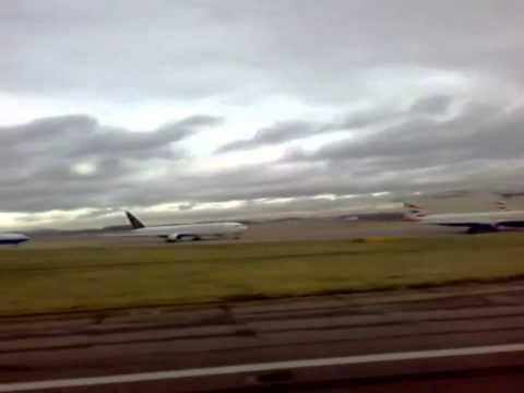 British Airways Heathrow Airport Boeing 747 Terminal 4 London To Dhaka Bangladesh Take Off