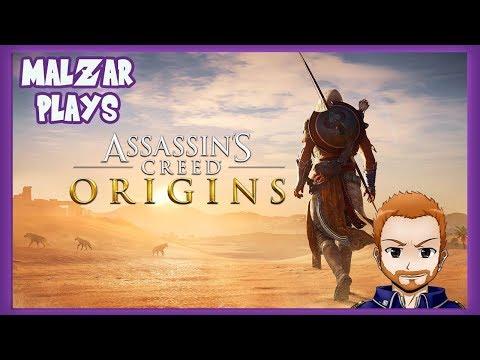 MALZAR PLAYS ASSASSINS CREED ORIGINS 1!
