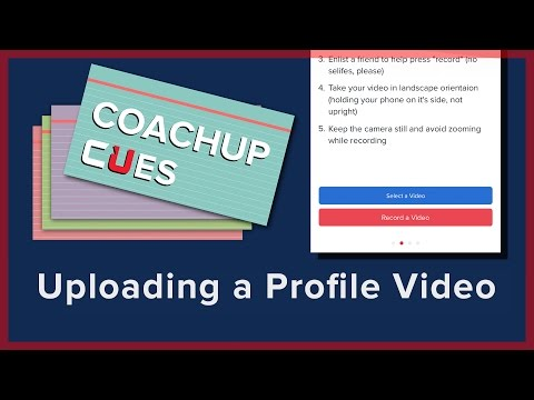 Uploading a Profile Video | CoachUp Cues