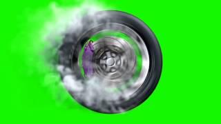 Green Screen Fast Wheel Tire Speed Smoke - Footage PixelBoom CG