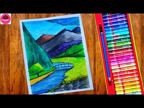 Download Thumbnail For How Draw Mountain Landscape Easy I