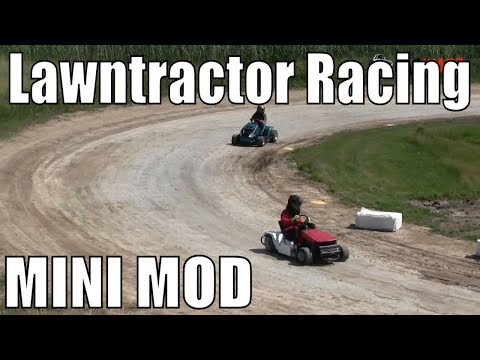 Mini Modified Class Lawntractor Racing At Western Ontario Outlaws July 7 2019 - MAINS