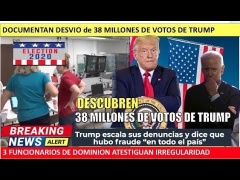 Documentan desvio de 38 millones de votos recuperados para Trump