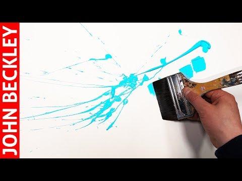 Démonstration Peinture Abstraite à l'Acrylique | Wild Flower