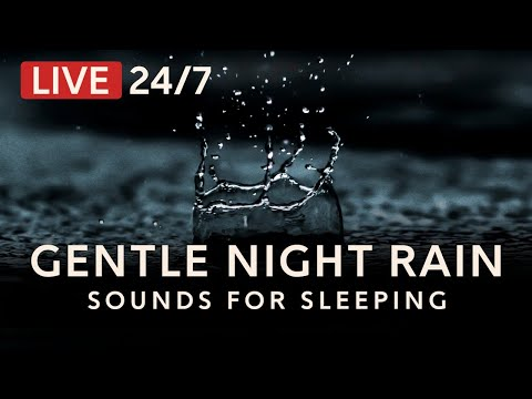 Gentle Night RAIN 24/7: Rain Sounds for sleeping, relaxing, insomnia | Dark Screen, Deep Sleep