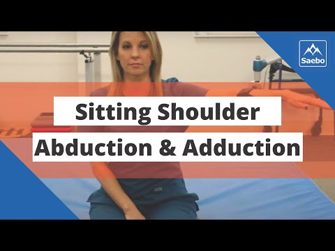 SaeboMAS Exercise - Sitting Shoulder Abduction and Adduction