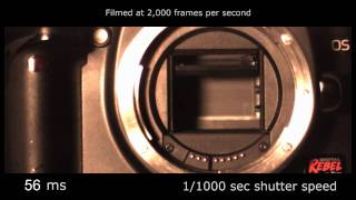 Slow motion camera shutter - Canon TX / 350D 2,000 fps