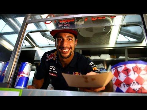 Formula One Driver Daniel Ricciardo Serves Up An Austin Treat...