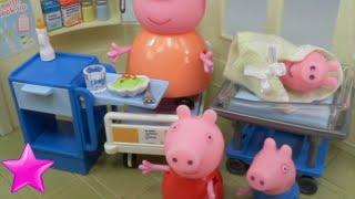Peppa Pig Mamá Pig tiene un bebé en el hospital Juguetes de Peppa Pig