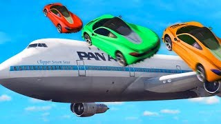 EXTREME JUMP OVER THE PLANE CHALLENGE! (GTA 5 Funny Moments)