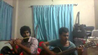 Purano Shei diner kotha Flute cover by araf and samin