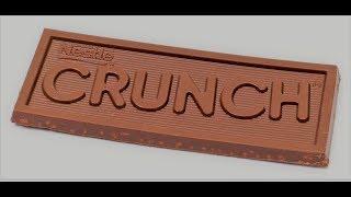 طريقه عمل لوح شوكولاته Crunch مقرمش