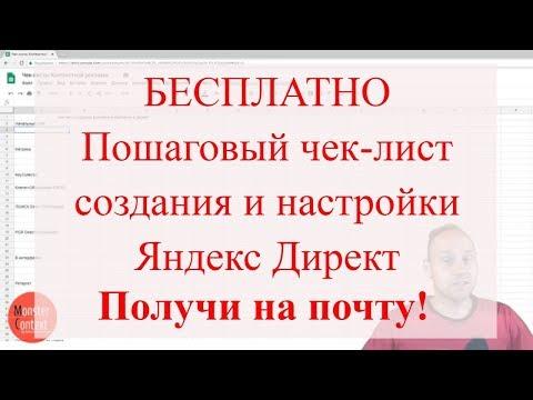 Чек-лист создания и настройки рекламной кампании в Яндекс Директ