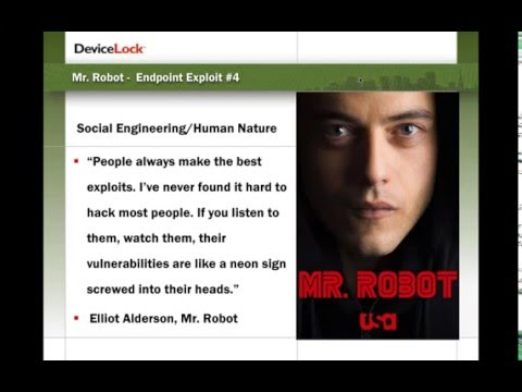 Webinar – A Hacker's Guide Courtesy of Mr. Robot