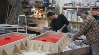 Concrete Central Farm Sink Pour Mov Youtube
