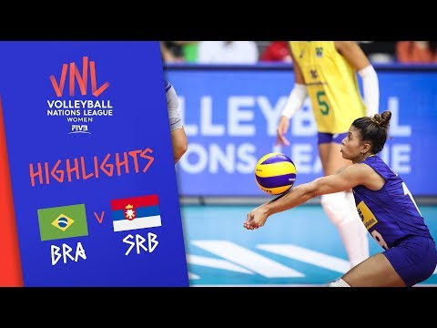BRAZIL vs. SERBIA - Highlights Women | Week 4 | Volleyball Nations League 2019