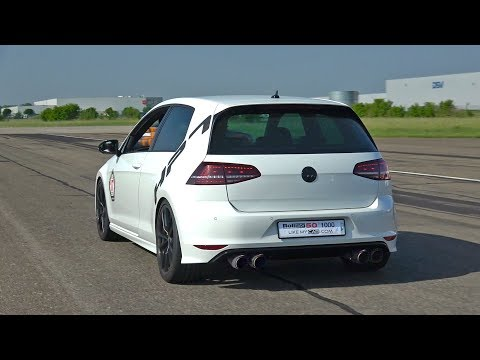 390HP Volkswagen Golf 7 R HPT Turbo – Exhaust Sounds & Top Speed Run!