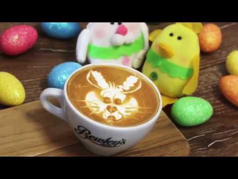 Easter Bunny Latte Art