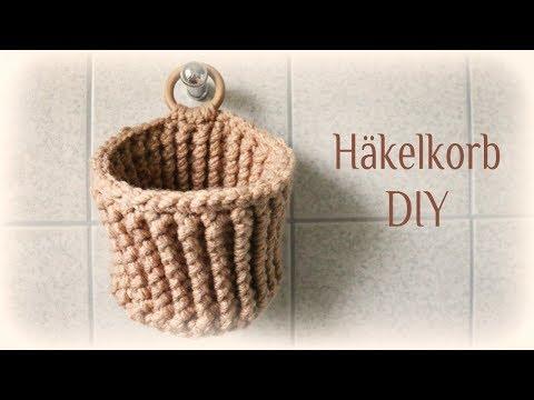 Häkelkorb * DIY * Crochet Basket [eng sub]