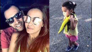 Odalys Ramírez y Pato Borghetti de paseo con su hija Gia