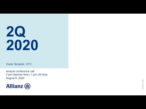 Allianz Group Analyst Conference Call on 2Q 2020