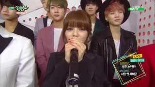 150501 JIMIN N J DON 지민 엔 제이던 & BTS 방탄소년단   Backstage Interview @ Music Bank