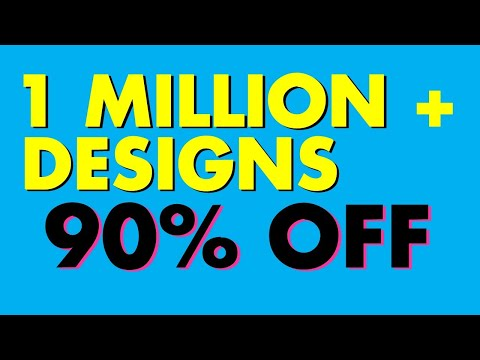 Over 1 Million Designs are 90% OFF – 50 cents, 30 cents, etc.