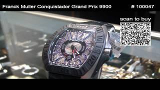 8e8c32bd6dd Franck Muller Grand Prix 9900 SCG PTT - YouTube