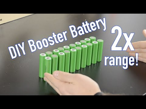 DIY 2x range booster battery for electric scooter or e-bike