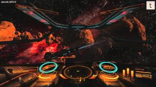 Elite Dangerous Alpha 3.2 Sights and Sounds of an Anaconda mining vessel
