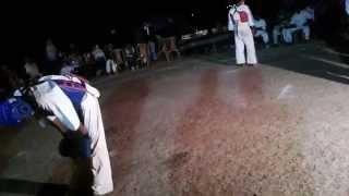 yellow belt vs blue belt karate fight