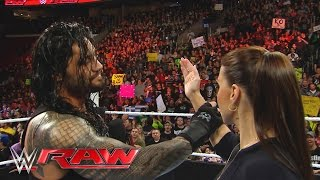 "Roman Reigns reminds Stephanie McMahon that he is the ""authority"" in WWE: Raw, March 21, 2016"