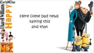 Despicable Me 2 Soundtrack - Happy - Pharrell Williams - lyrics