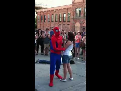 Spiderman Proposal Video in Downtown Provo