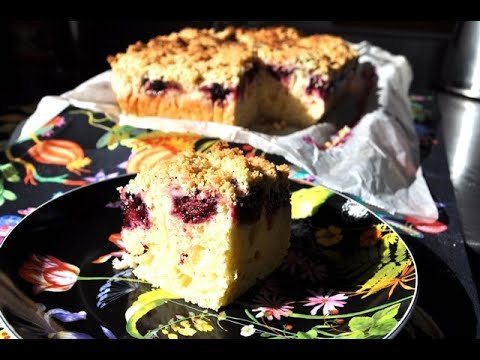 Broombeerkuchen mit streusel - Tarta de moras con Thermomix ®