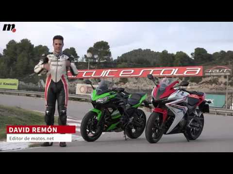 Honda CBR500R vs Kawasaki Ninja 650 KRT | Comparativo / Test / Review en español | motos.net